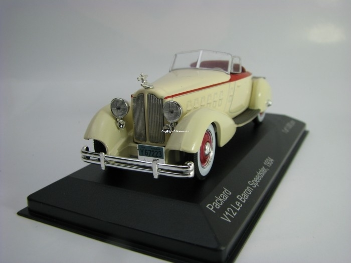 Packard V12 Le Baron Speedster 1934 Beige 1:43 White Box